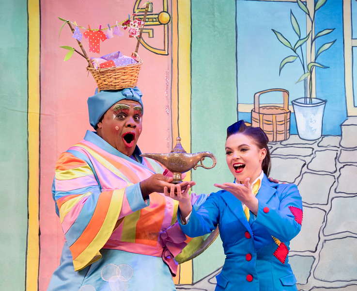 'Aladdin' Pantomime performed at the Hackney Empire Theatre, London, UK