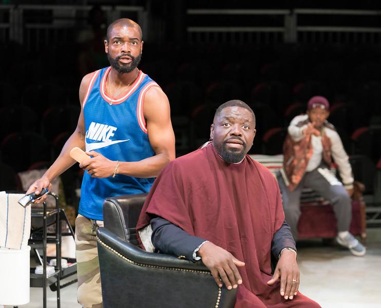 Emmanuel Ighodoro  David Webber<br /> ©Alastair Muir 24.07.19<br /> Barber Shop Chronicles 359