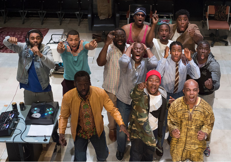 'Barber Shop Chronicles' Play performed in the Dorfmann Theatre at the Royal National Theatre, London, UK