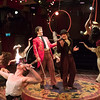'Barnum' Musical performed at the Menier Chocolate Factory Theatre, London, UK