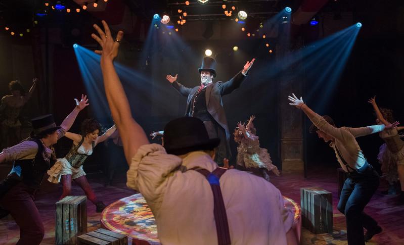 'Barnum' Musical performed at the Menier Chocolate Factory Theatre, London, UK