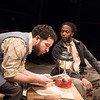 'Blood Knot' Play by Athol Fugard performed at the Orange Three Theatre, Richmond, Surrey, UK