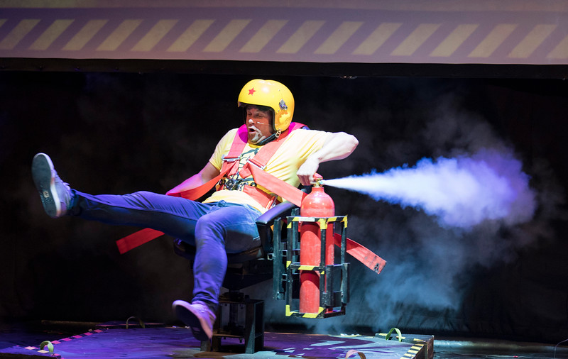 'Brainiac Live! Science Show performed at the Garrick Theatre, London, UK