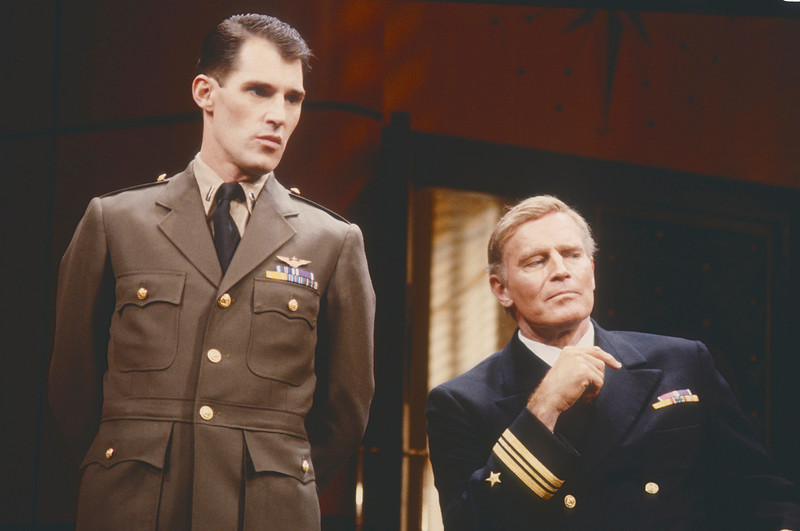 'Caine Mutiny Court Marshall' Play performed at Queen's Theatre, London, UK 1984
