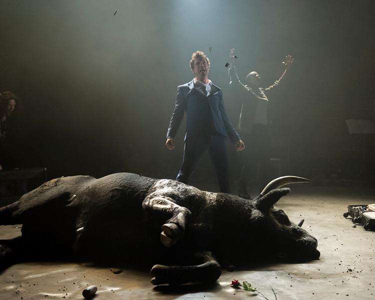 'Carmen Disruption' Play performed at the Almeida Theatre, London. UK