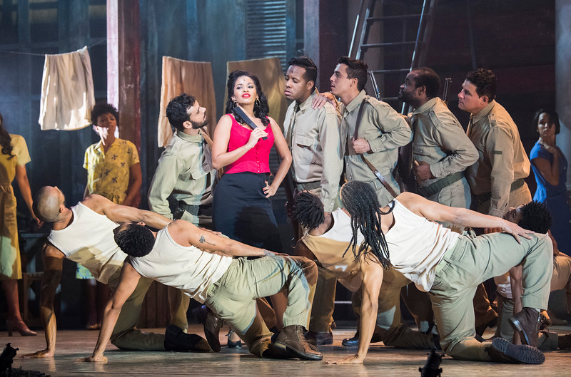 'Carmen La Cubana' Dance performed at Sadler's Wells Theatre, London, UK
