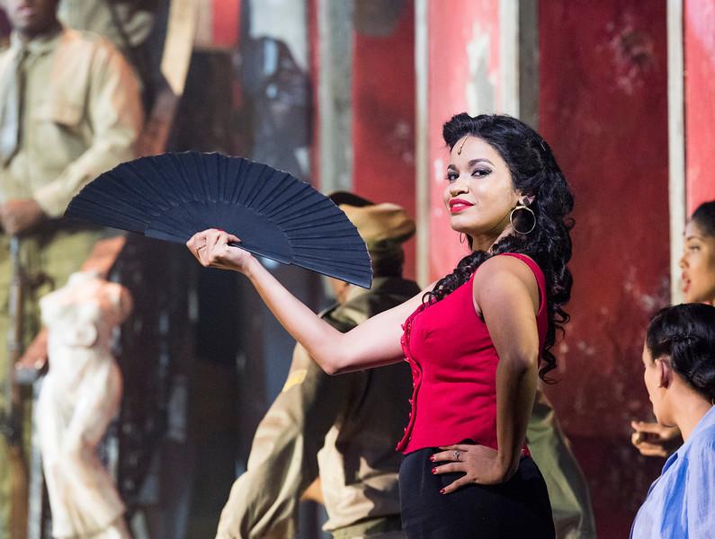 'Carmen La Cubana' Dance performed at Sadler's Wells Theatre, London, UK