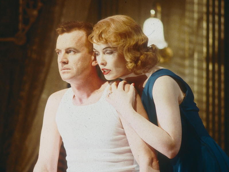 'Cat on a Hot Tin Roof' Play performed in the National Theatre, London, UK 1988