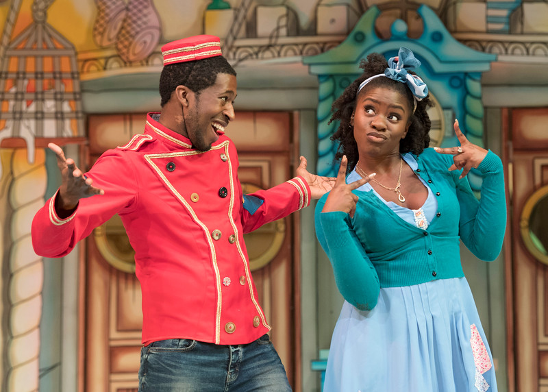 'Cinderella' Pantomime performed at the Empire Theatre, Hackney, London, UK