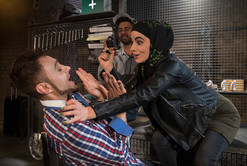 'Combustion' Play by Asif Khan performed at the Arcola Theatre, London, UK