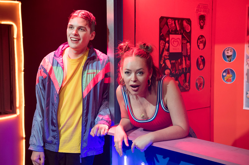 'Confidence' Play performed at Southwark Playhouse, London, UK
