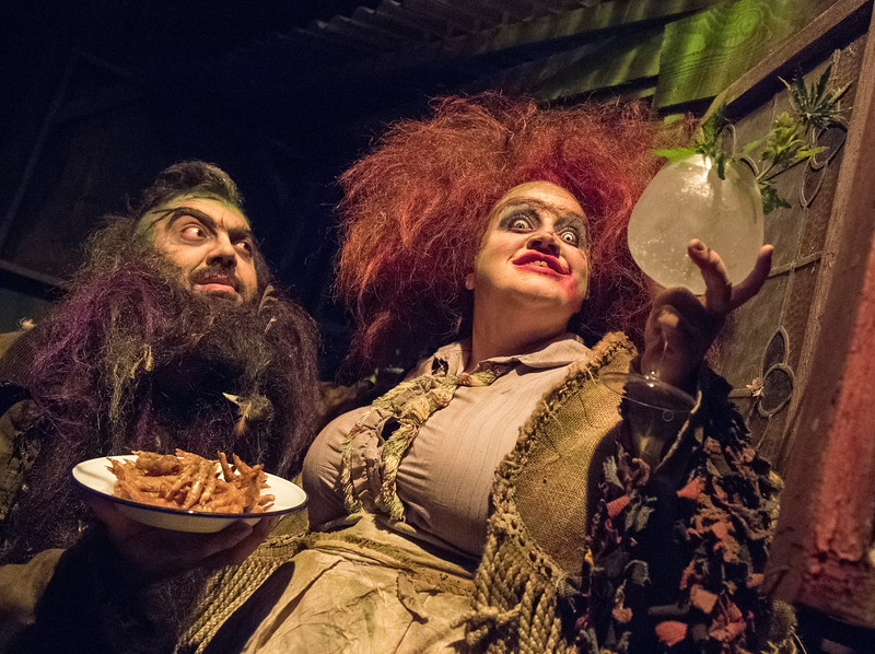 'Dinner at the Twits' Play performed in The Vaults, London, UK