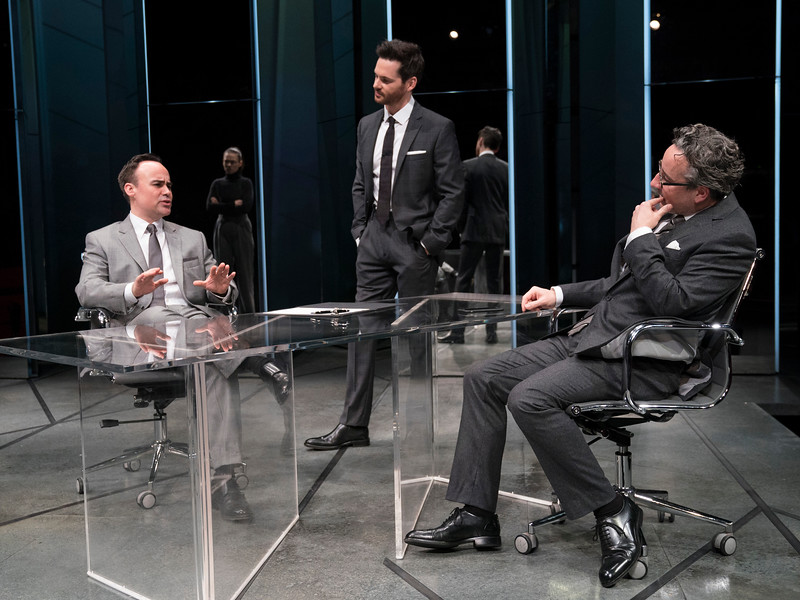'Dry Powder' Play performed at Hampstead Theatre, London, UK