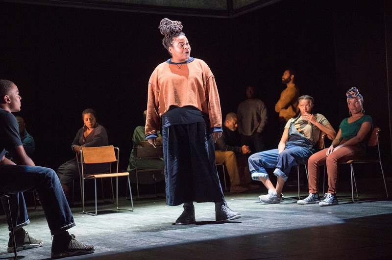 'Ear to Eye' Play by Debbie Tucker Green performed at the Royal Court Theatre, London, UK