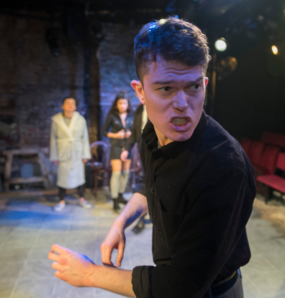 'East' Play by Steven Berkoff performed at the Kings Head Theatre, London, UK