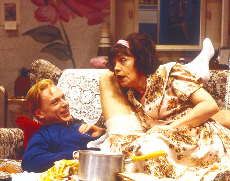 'Entertaining Mr Sloane' Play performed at Greenwich Theatre, London, UK 1993