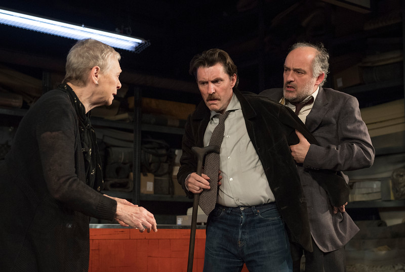 'Filthy Business' Play by Ryan Craig performed at Hampstead Theatre, London, UK