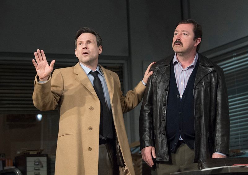 'Glengarry Glen Ross' play by David Mamet performed at the Playhouse Theatre, London, UK