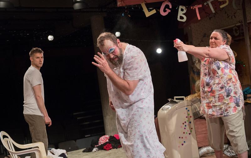 'HIR' Play by Taylor Mac performed at the Bush Theatre, London, UK