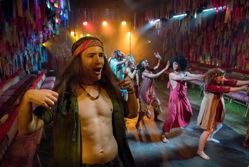 'Hair' Musical performed in The Vaults Theatre, London, UK