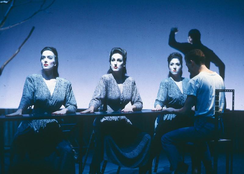 'Hamlet Machine' Play performed at the Almeida Theatre, London, UK 1987