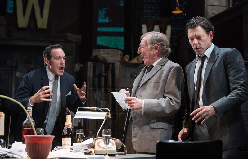 'Ink' Play by james Graham performed at the Almeida Theatre, London, UK