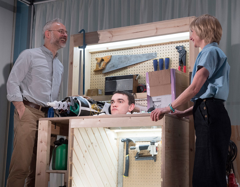 'Instructions for Correct Assembly' Play performed at the Royal Court Theatre, London, UK
