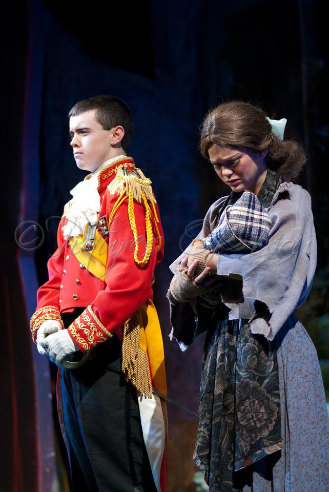 Cinderella played by Kelly Swint<br /> Cinderella's Prince played by Daniel Mosher