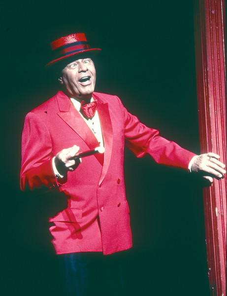 Jerry Lewis performing in 'Damn Yankees' Musical at the Adelphi Theatre, London, UK 1997