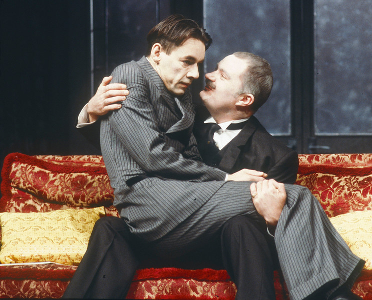 'Kafka's Dick' Play performed at the Royal Court Theatre, London, UK 1986