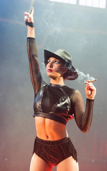 'La Soiree' Cabaret performed at the Spiegeltent, London, UK