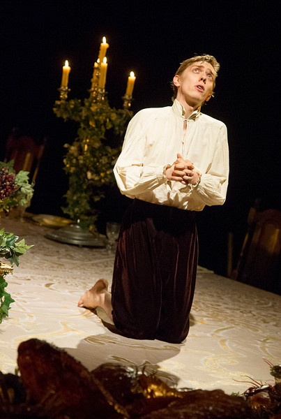 'Light Shining in Buckinghamshire' Play by Caryl Churchill performed in the Lytteleton Theatre at the Royal National Theatre, London, UK