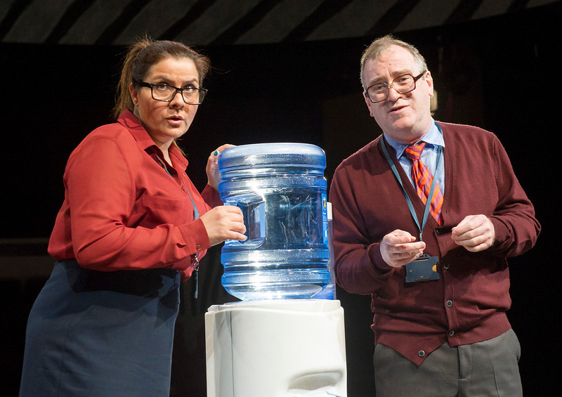 'Matchbox Theatre' Play by Michael Frayn performed at Hampstead Theatre, London, UK