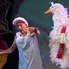 'Mother Goose' Pantomime performed at Wilton's Music Hall, London UK