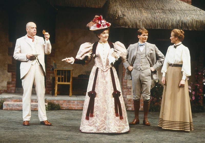 'Mrs Warren's Profession' Play performed at the Lyttelton Theatre, National Theatre, London, UK 1985