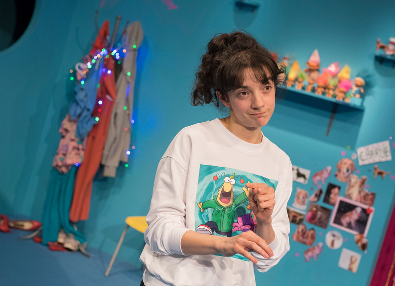 'My Mum's a Twat' Play by Anoushka Warden performed at the Royal Court Theatre Upstairs, London, UK