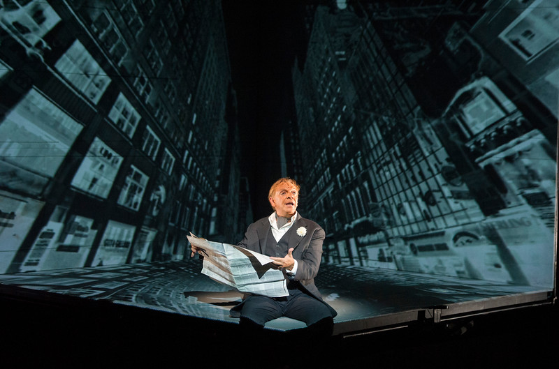 'Needles and Opium' Play directed by Robert Lepage performed at the Barbican Theatre, London, UK