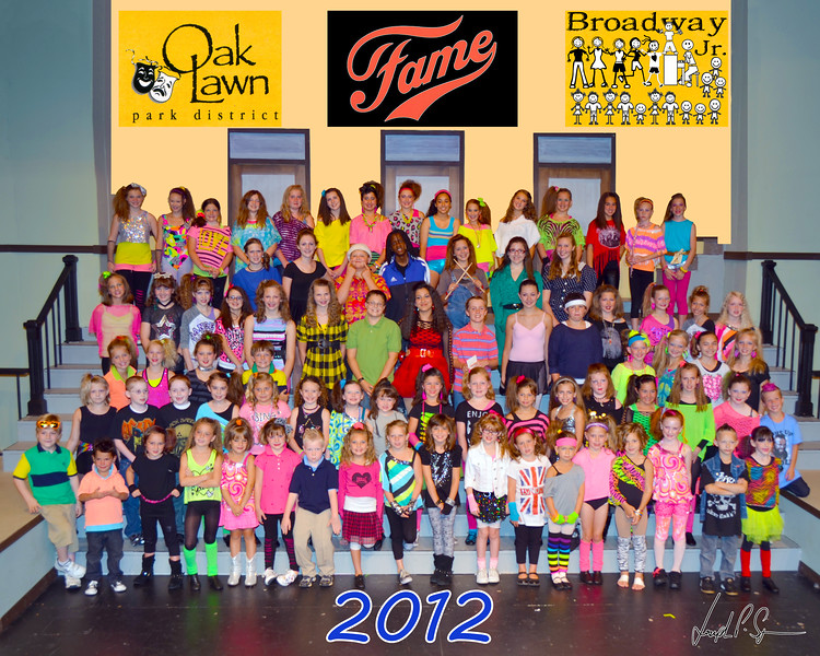 OLPD 2012 Fame Jr Blue Team 2012 July 11 Cast Picture