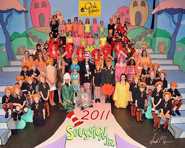 A OLPD 2011 Broadway Jr Seussical 2011-07-12 Cast Picture (1030) 8x10