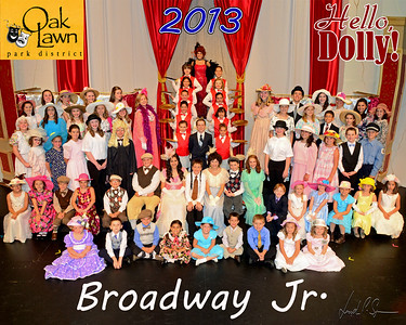 OLPD 2013 Broadway Jr Hello Dolly Blue cast