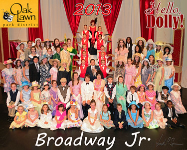 OLPD 2013 Broadway Jr Hello Dolly Red cast