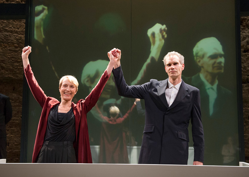 'Oresteia' Play performed at the Almeida Theatre, London, UK