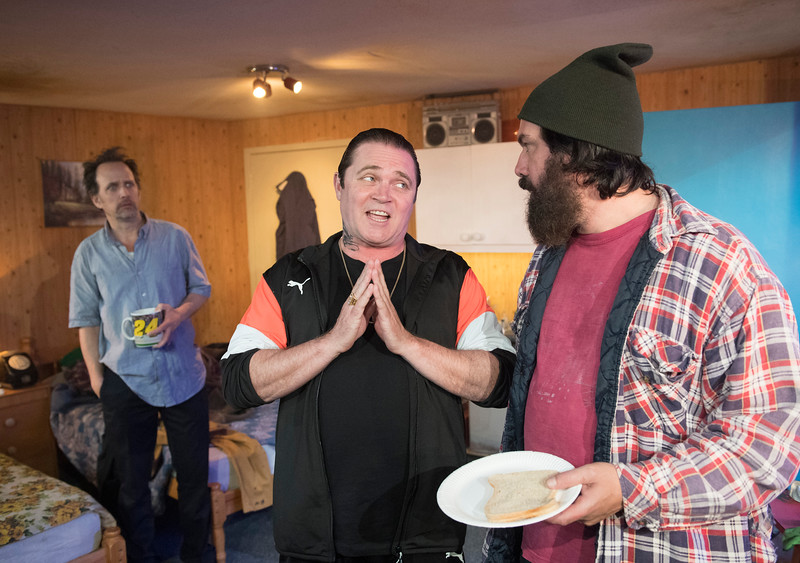 'Out There On Fried Meat Ridge Road' Play by Keith Stevenson performed at the Trafalgar Studios, London, UK