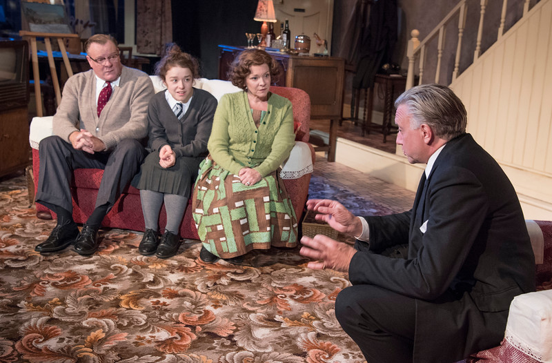 'Pack of Lies' Play performed at the Menier Chocolate Factory Theatre, London, UK