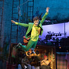 'Peter Pan' Play performed in the Olivier Theatre at the Royal National Theatre, London, UK