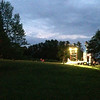 "iPhone snapshot by director Enrico Spada during load-in and tech for ""A Midsummer Night's Dream"" at Springside Park."