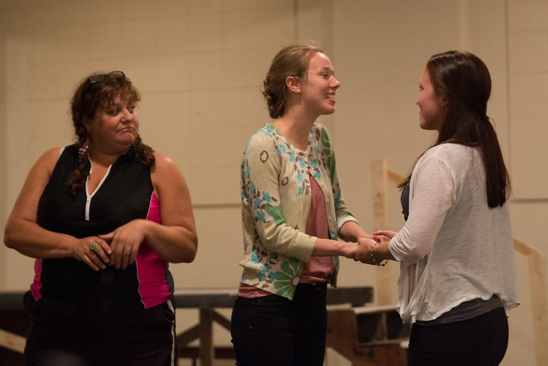 Barby Cardillo (Nurse), Fiona Barnett-Mulligan (Juliet) and Hana Kenny (Lady Capulet). Photo by Haley Barbieri.