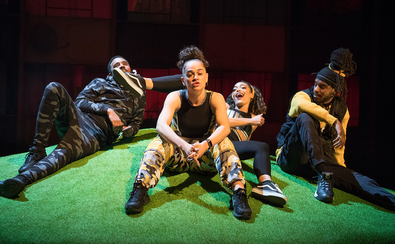 'Poet in da Corner' Play performed at the Royal Court Theatre, London, UK