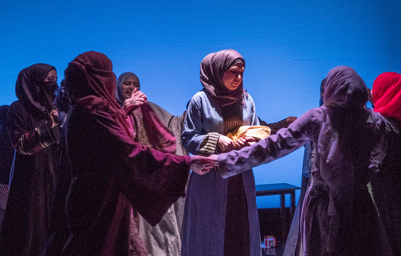 'Queens of Syria' Play performed at the Young Vic Theatre