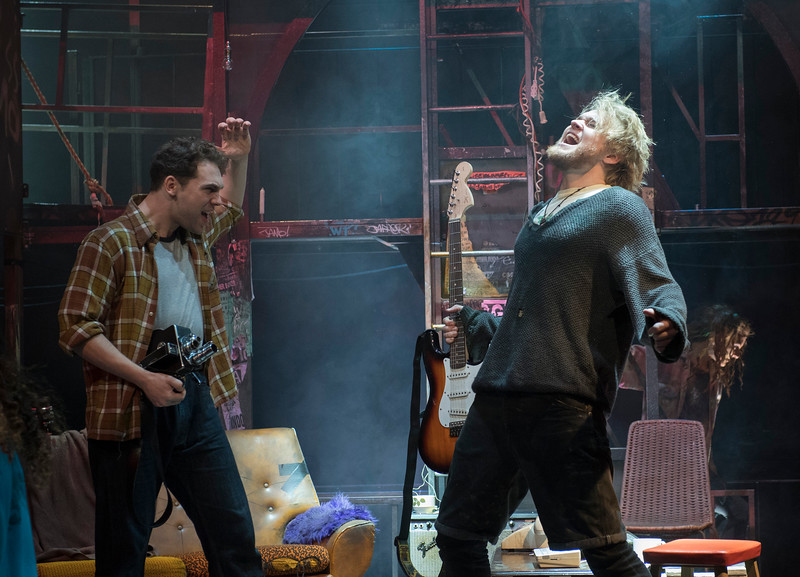'Rent' Musical performed at the St James Theatre, London, UK